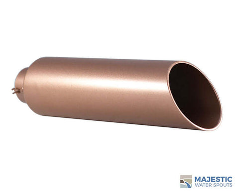 "Beretta <br> 2"" Round Water Spout - Copper Style"