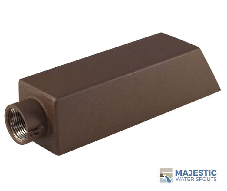 Square Brown Water Fountain Spout for pool spa or water feature