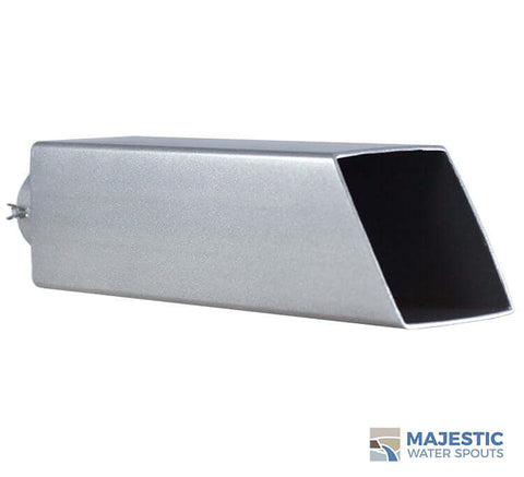 "Ericsson <br> 2"" Square Water Spout - Silver Metallic"