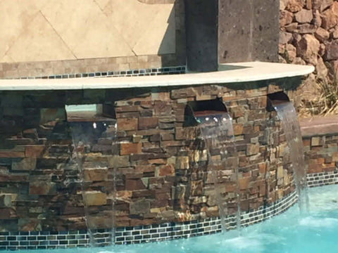 "Lombardi <br> 36"" Spa-To-Pool/Fountain Spillway - Copper"