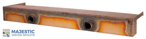 "Zanardi <br> 36"" Open Top Waterfall Spillway - Copper"