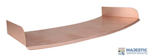 "Lombardi <br> 36"" Curved Spa/Fountain Spillway - Copper"