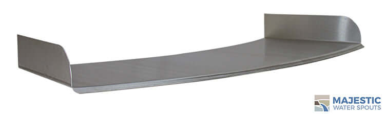 "Lombardi <br> 36"" Curved Spa/Fountain Spillway - Stainless Steel"