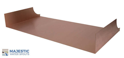 "Monaco <br> 36"" Spa-to-Pool/Fountain Spillway - Copper"