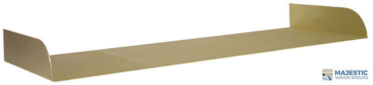 Brass Lombardi 36 inch tray for Spa to Pool Spillway and water feature by Majestic Water Spouts