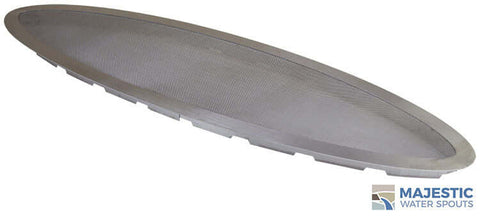 "36"" x 10"" Oval Splash Guard - Stainless Steel"