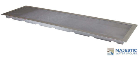 "36"" x 10"" Square Splash Guard - Stainless Steel"
