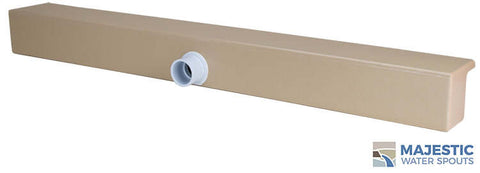 "Tomaso <br>36"" Smooth Water Spillway - Tan"