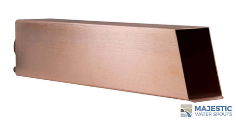 "Eden <br> 3"" Long Box Scupper - Brushed Copper"