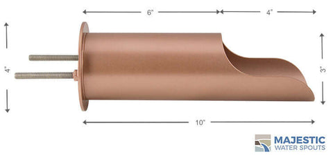 "Regazzoni <br> 3"" Round Water Spout Mask - Copper Style"