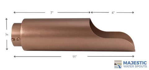 "Regazzoni <br> 3"" Round Water Spout - Copper Style"