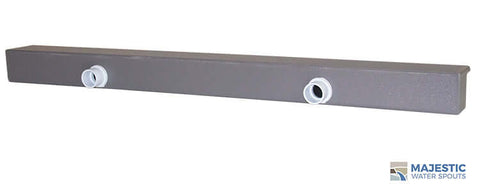 "Tomaso <br> 48"" Smooth Water Spillway - Gray"