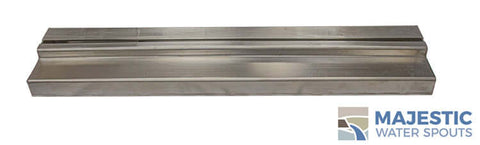 "48"" Water Wall <br> Stainless Steel Water Scupper"