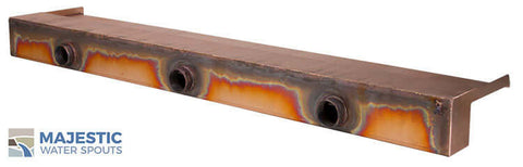 "Zanardi <br> 48"" Open Top Waterfall Spillway - Copper"