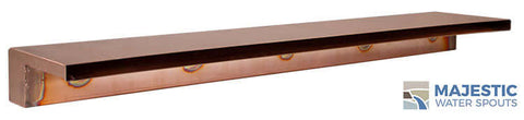 "Zanardi <br> 48"" Closed Top Waterfall Spillway - Copper"