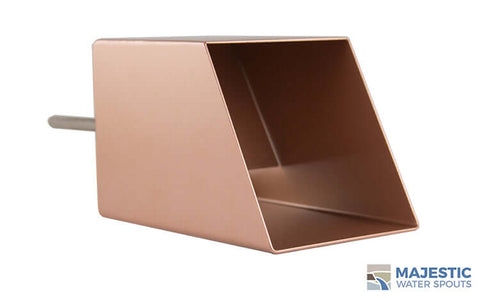 "Cecetto <br> 4"" Square Water Feature Mask - Copper Style"