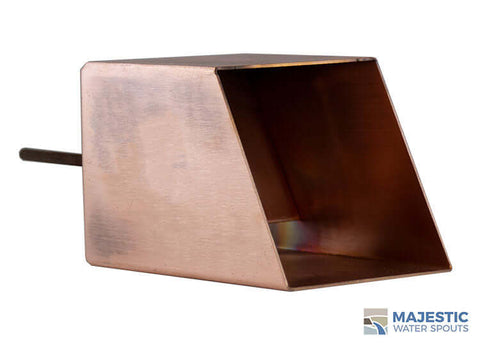 "Cecetto <br> 4"" Square Water Feature Mask - Copper"