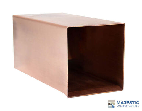 "Hugo <br> 4"" Box Square Scupper - Copper"