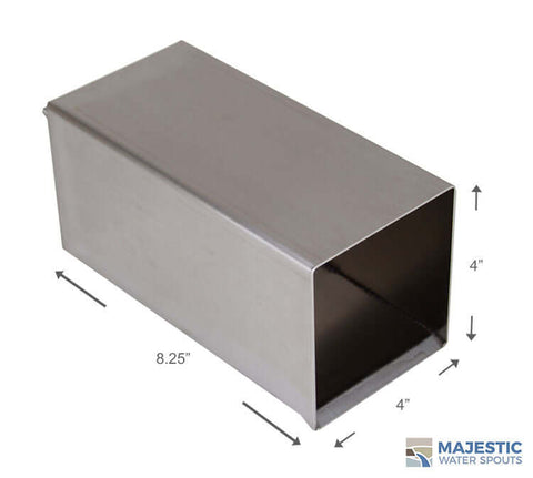SS 4 In Box shape water scupper for pool and fountain