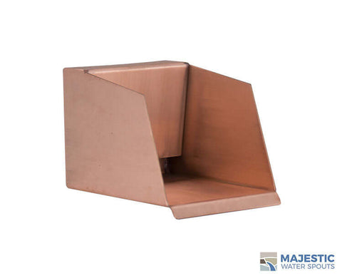"Nardo <br> 4"" Open Top Scupper - Copper"