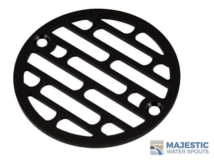 Bronze 4 inch decorative drain cover for shower by Majestic Water spouts