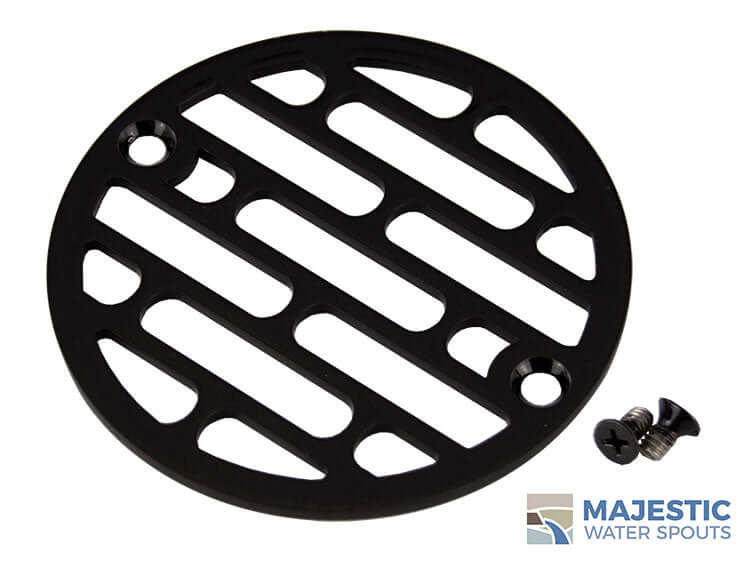 4 inch round bronze metallic shower drain cover
