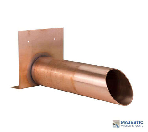 "Eglin <br> 4"" Round Roof Drainage Scupper - Copper"