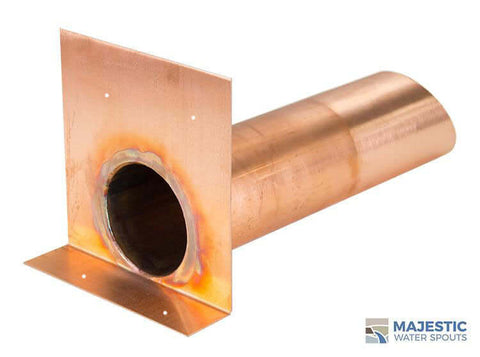 4 inch round copper roof scupper by Majestic water spouts
