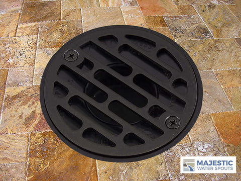 Bronze metallic decorative shower drain cover