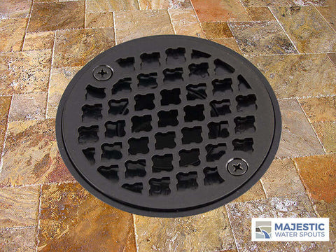 "Monet <br> 4"" Round Drain Cover - Bronze Metallic"