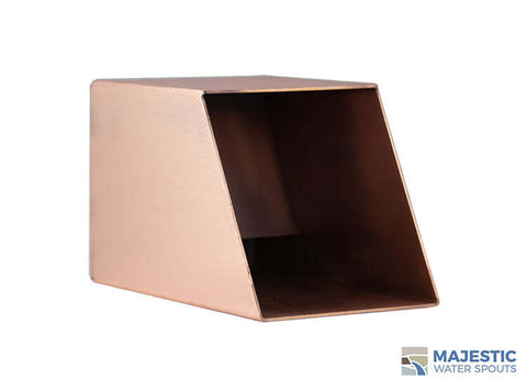 "Cecetto <br> 4"" Square Water Spout - Copper"