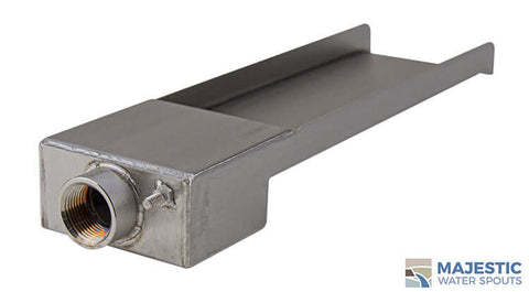 "Zanardi <br> 4"" Open Top Fountain Scupper - Stainless Steel"