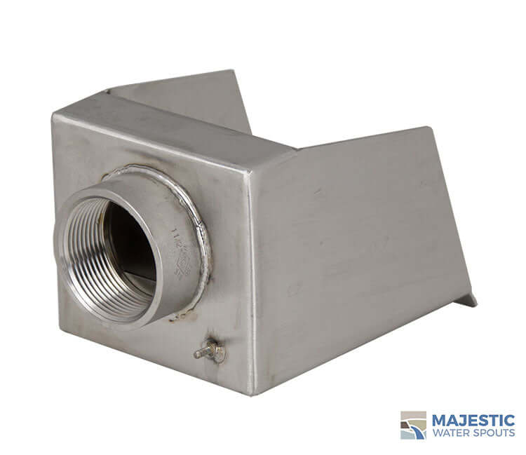 "Nardo <br> 4"" Open Top Scupper - Stainless Steel"