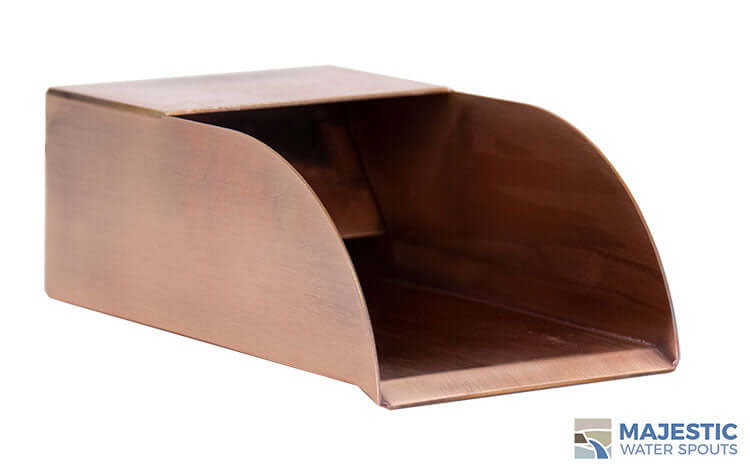 Copper Jenson 5 in water scupper for water feature in pool or water fountain and bath tub