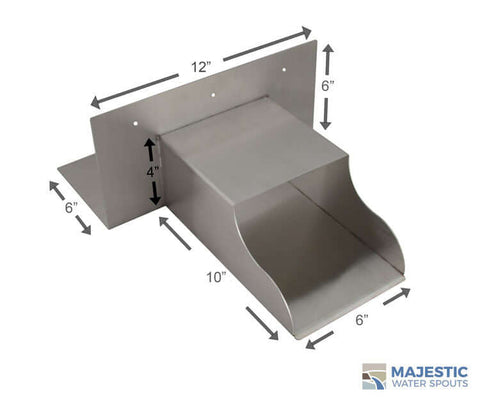 "Amati <br> 6"" Roof Drainage Scupper - Stainless Steel"