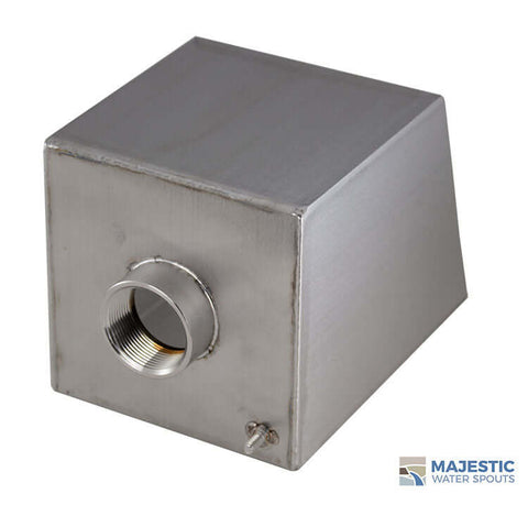 "Cecetto <br> 6"" Box Water Scupper - Stainless Steel"