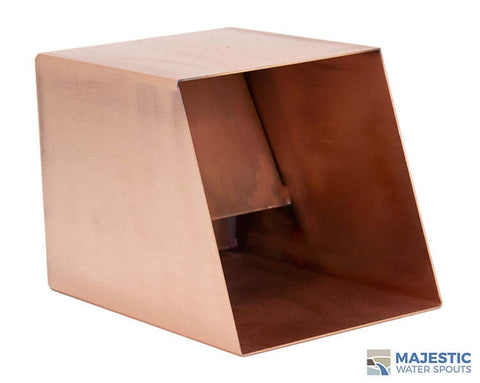 "Cecetto<br> 6"" Box Water Scupper - Copper"