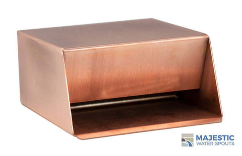 "Hamilton <br> 6"" In-Wall Scupper - Copper"