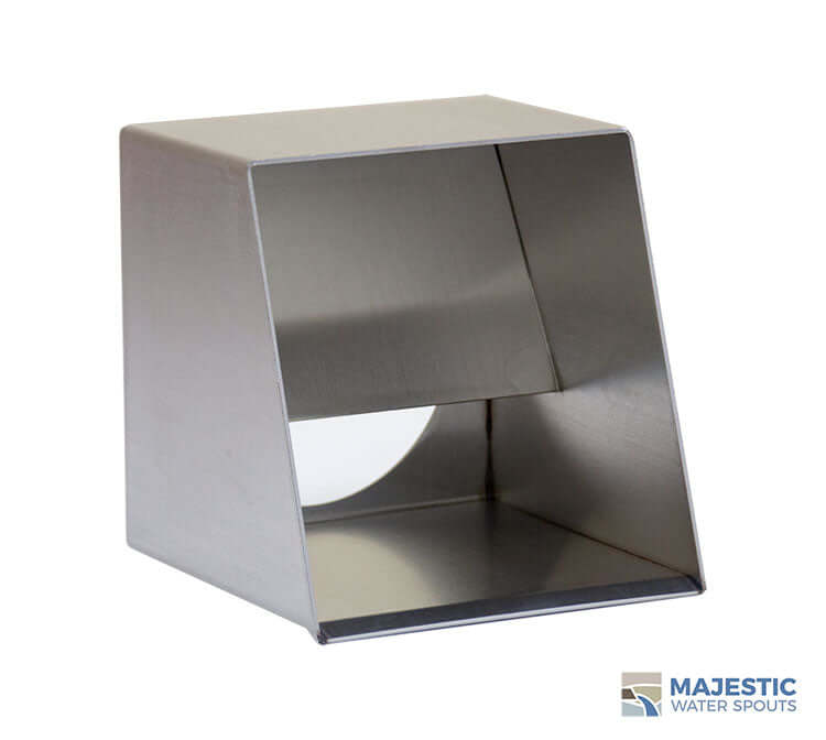 Stainless Steel Hugo 6 in Roof Drainage Scupper by Majestic Water Spouts