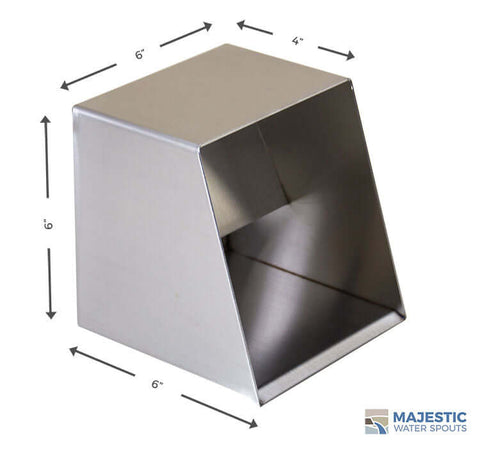 Stainless Steel Square box roof Drainage scupper for residential home
