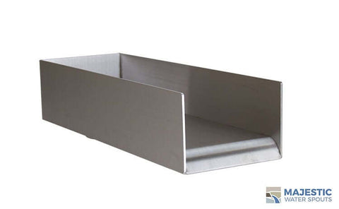 "Block <br> 6"" Open Top Spillway - Stainless Steel"