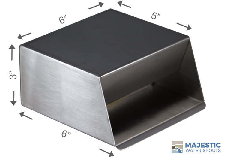 "Hamilton <br> 6"" In-Wall Scupper - Stainless Steel"
