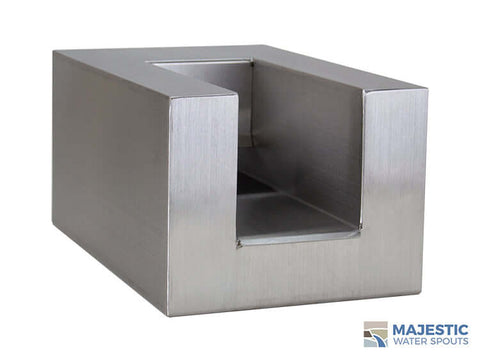 "Cayman <br> 8"" U-Style Pool/Fountain Scupper - Stainless Steel"