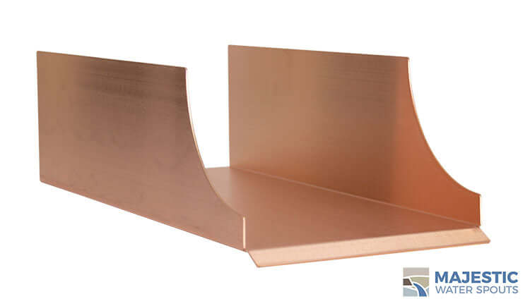 "Monaco <br> 8"" Spa-to-Pool/Fountain Spillway - Copper"
