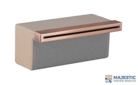"Tomaso <br> 8"" Classic Vanity Cover - Copper"