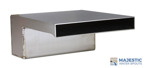 "Zanardi <br> 8"" Closed Top Waterfall Spillway - Stainless Steel"