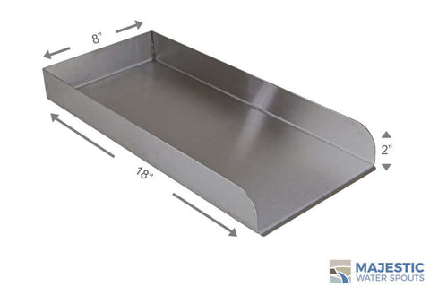 "Martin <br> 18"" Water Runnel Spill Channel - Stainless Steel"