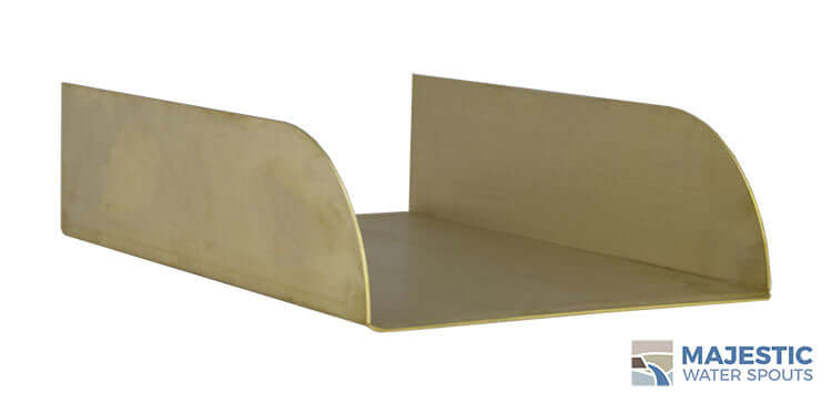 Brass Lombardi Spillway Tray for Spa to Pool Spillover and water feature spillway by Majestic Water SPouts