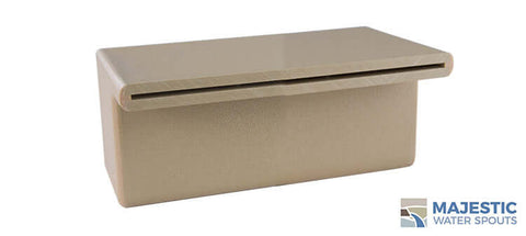 "Tomaso <br> 8"" Smooth Water Spillway - Tan"