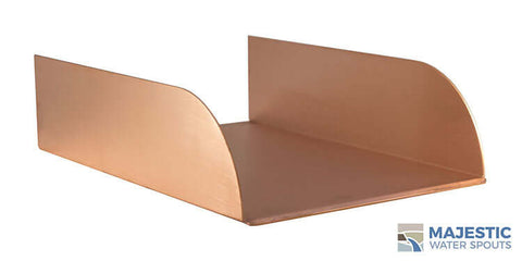 "Lombardi <br> 8"" Spa-to-Pool/Fountain Spillway - Copper"